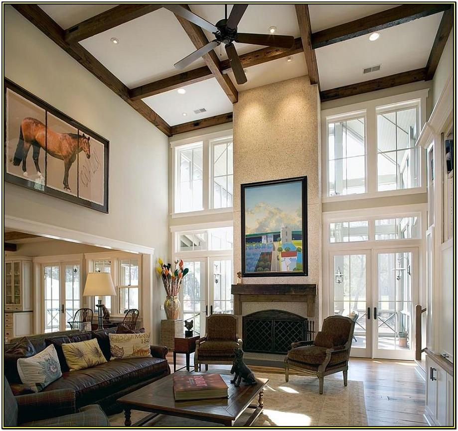 How To Decorate Living Room With High Ceiling