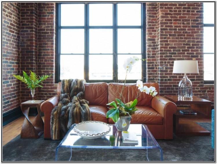 Interior Brick Wall Design Living Room