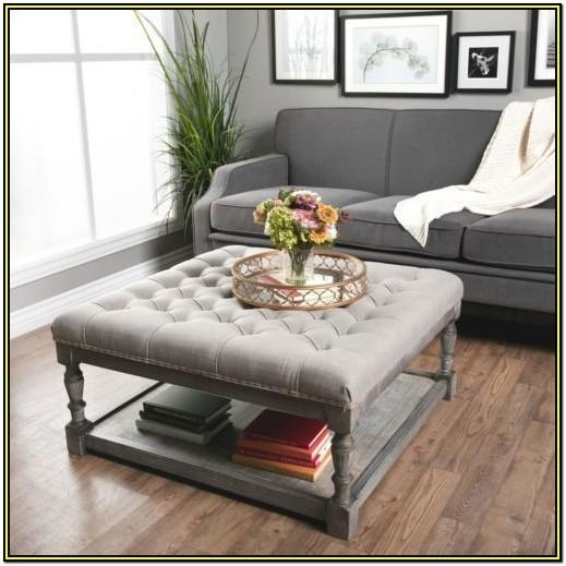 Large Living Room Storage Ottoman