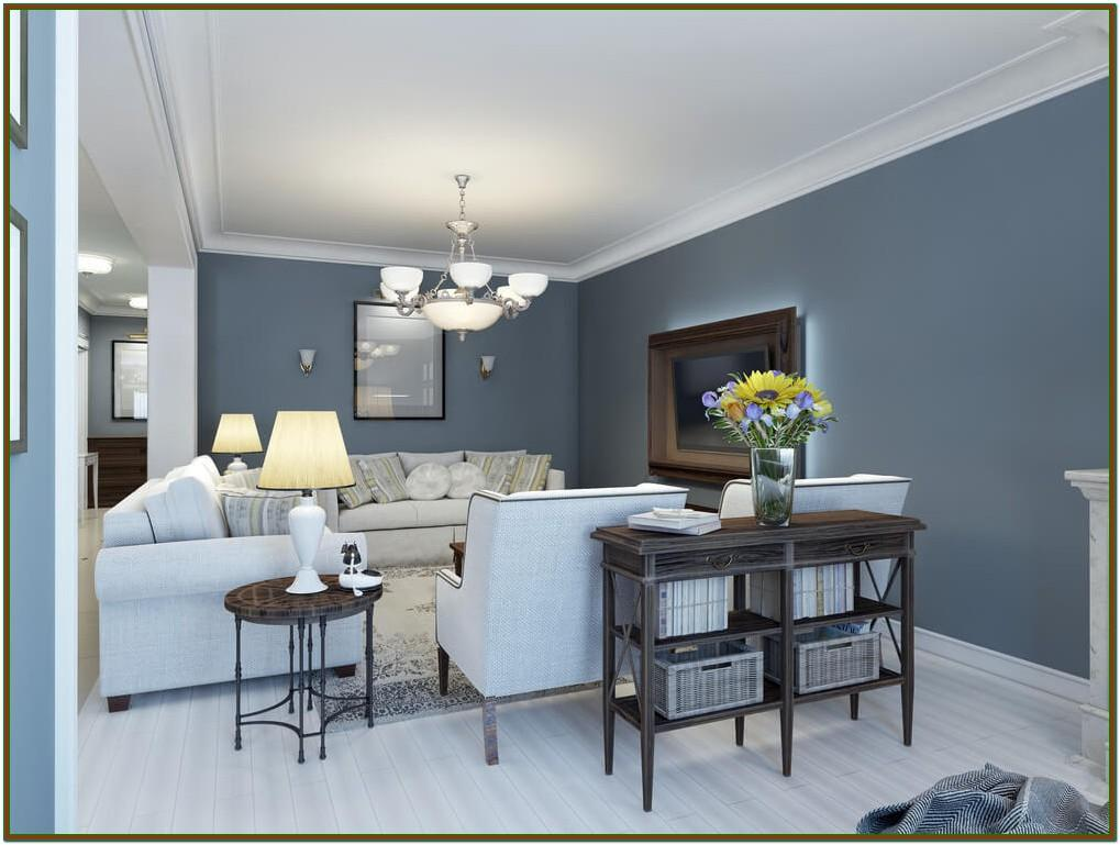 Light Blue Gray Paint Living Room
