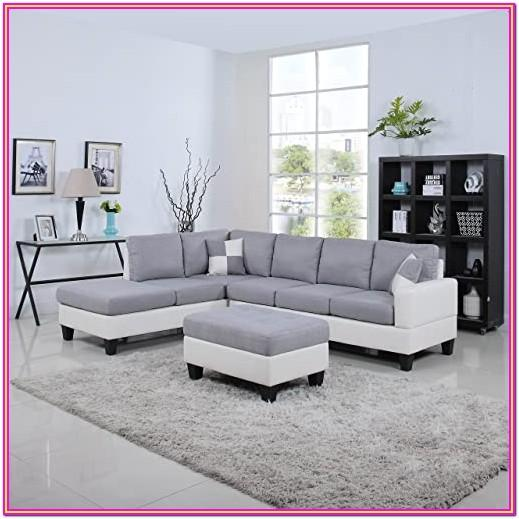 Light Grey Leather Living Room Furniture
