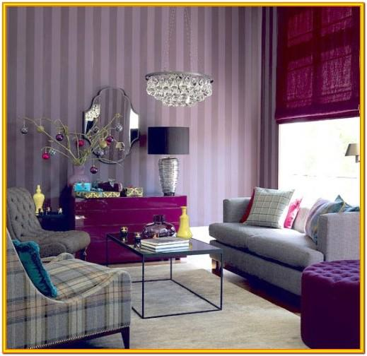 Light Purple Color Living Room