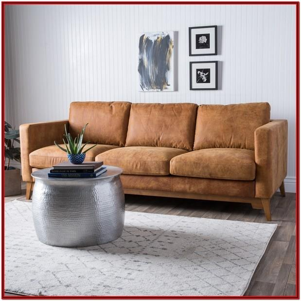 Light Tan Leather Couch Living Room