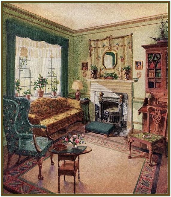 Living Room 1940s Home Decor