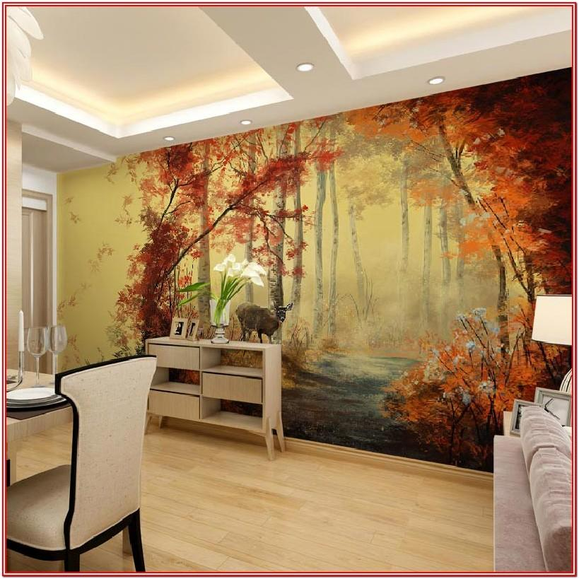 Living Room 3d Wall Painting Designs