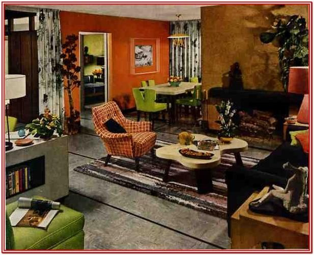 Living Room 50s Home Decor