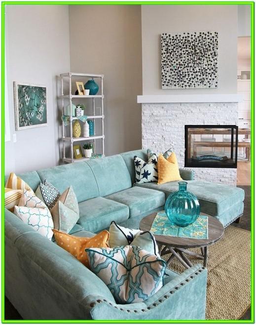 Living Room Aqua Chair