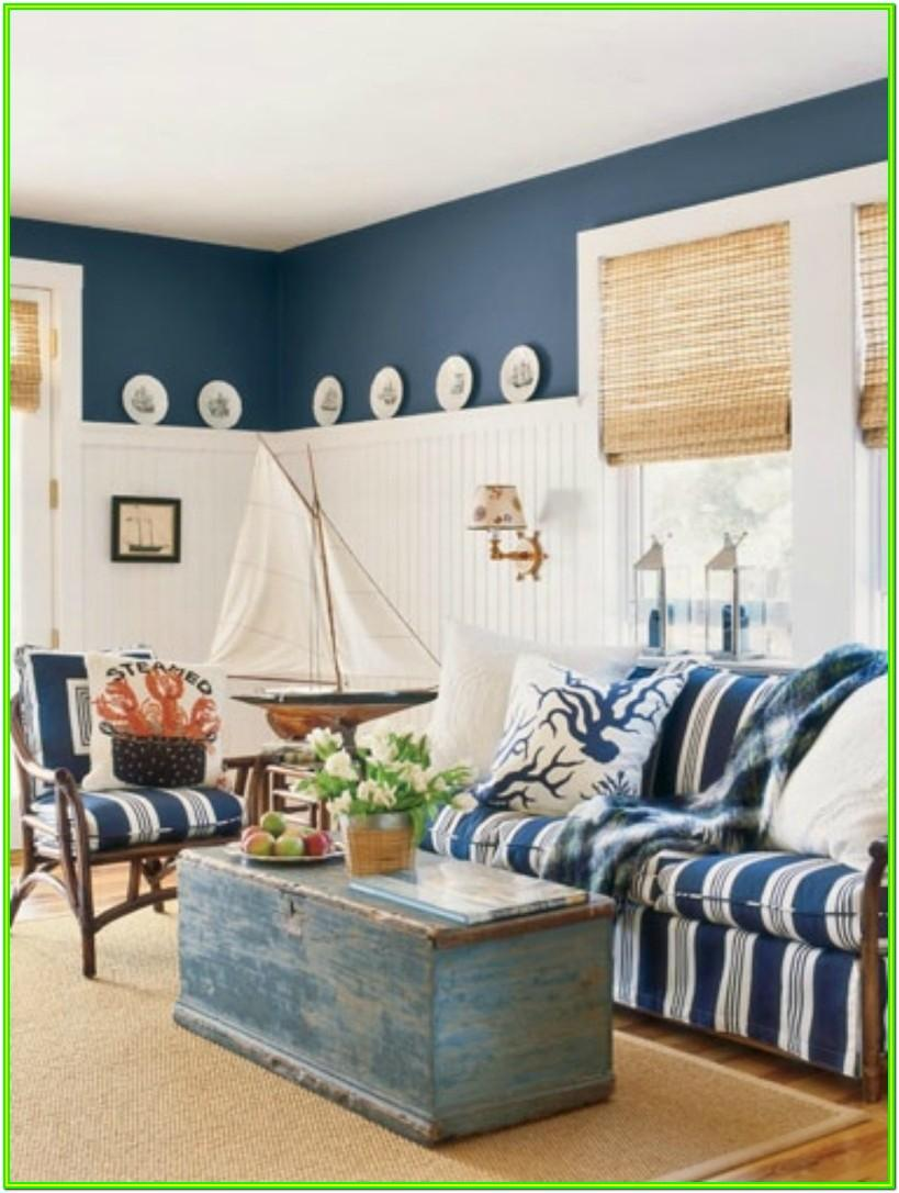 Living Room Beach Cottage Design