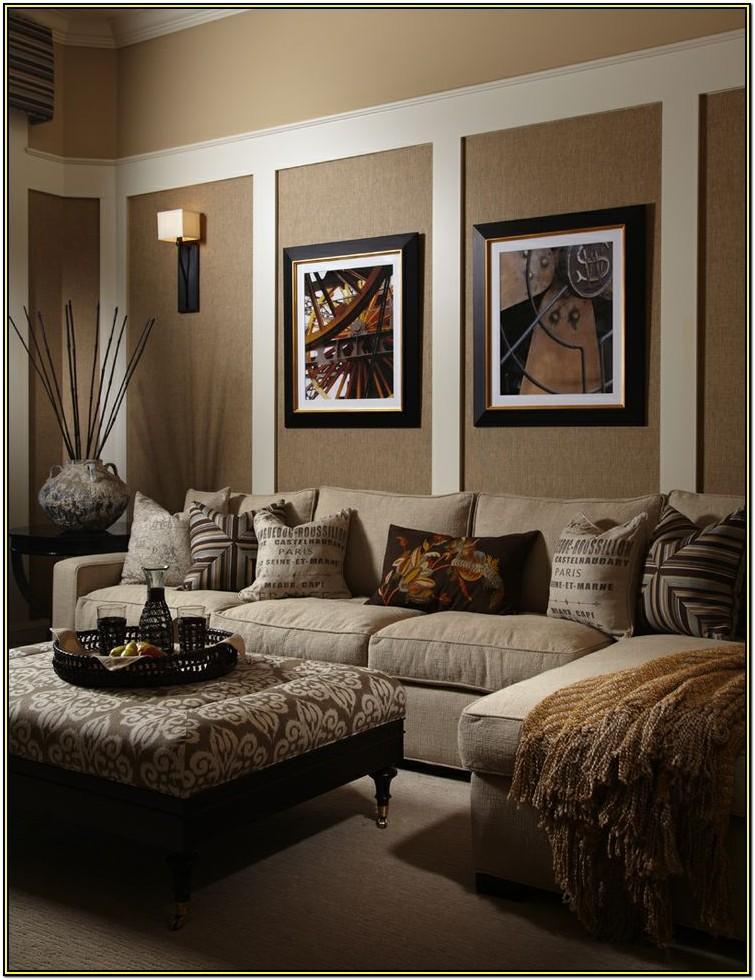 Living Room Beige Walls Black Furniture