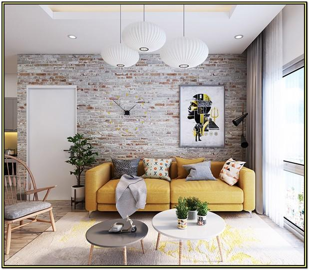 Living Room Brick Accent Wall Ideas