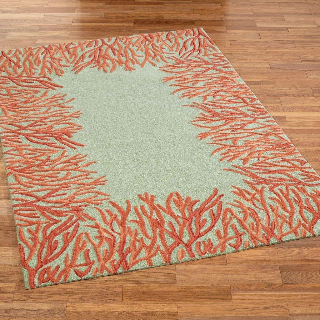 Living Room Burnt Orange Area Rug