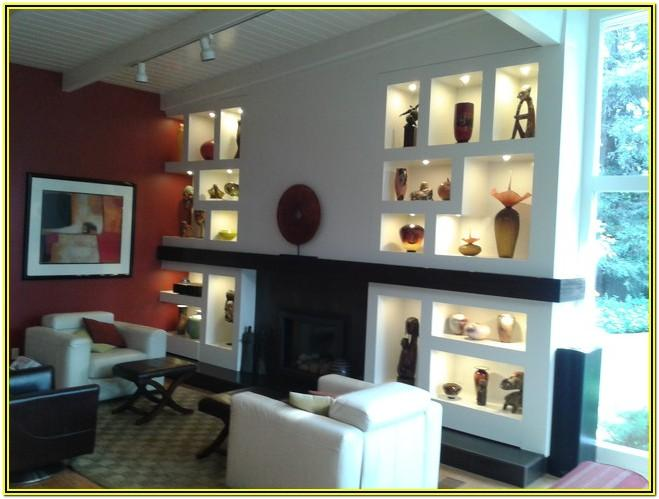 Living Room Contemporary Wall Niches