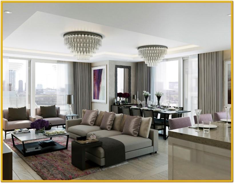 Living Room Crystal Chandelier Ideas