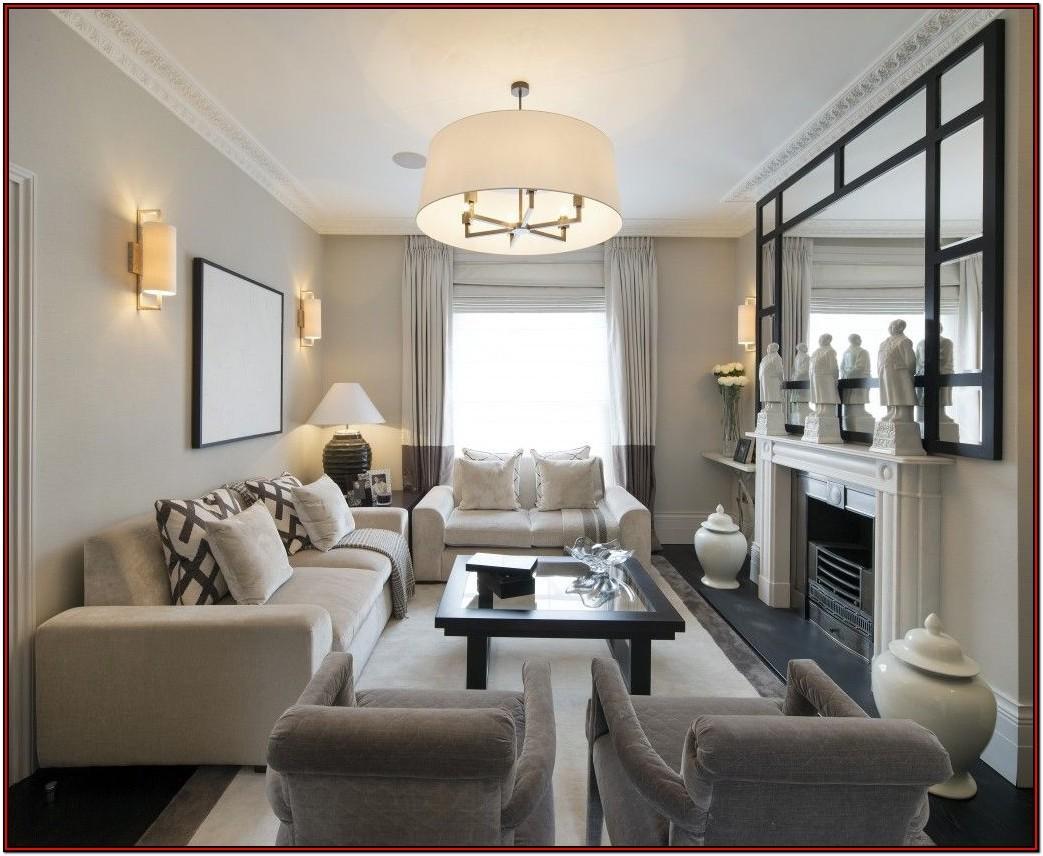Living Room Curtains To Three Long Narrow Windows