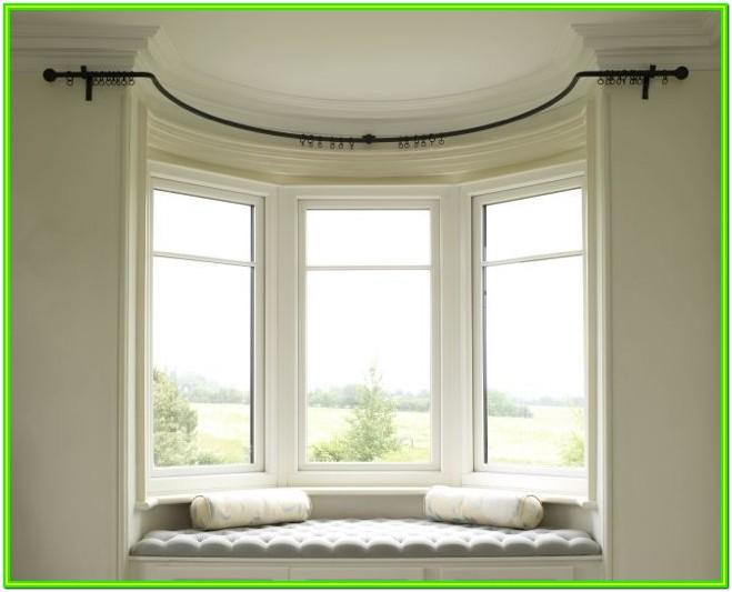 Living Room Curved Bay Window Curtains