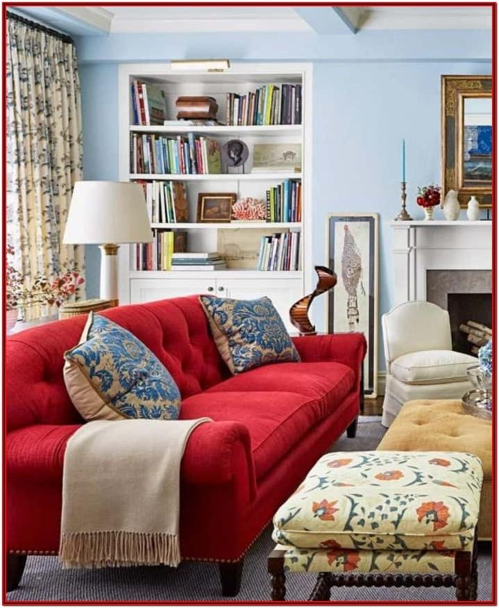 Living Room Design Ideas Red Sofa