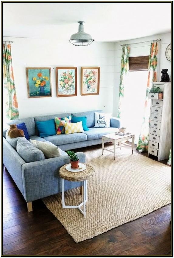 Living Room Design Ideas With Blue Sofa