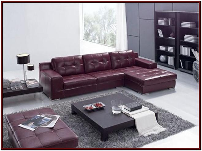 Living Room Leather Sofa Set Design