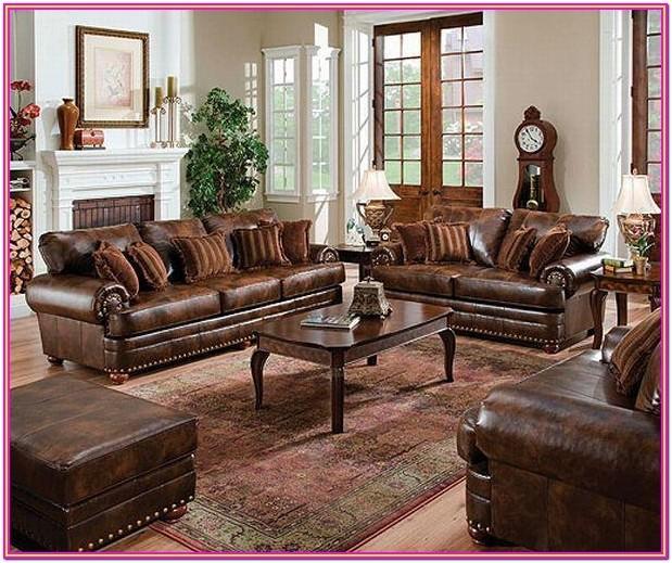Living Room Maroon Sofa Set