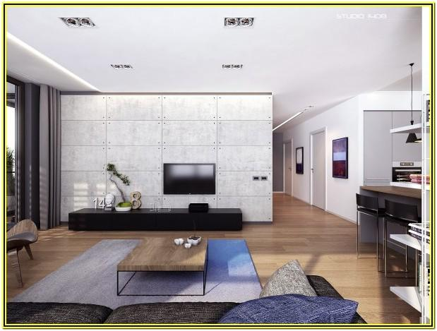 Living Room Modern Apartment Minimalist Interior Design
