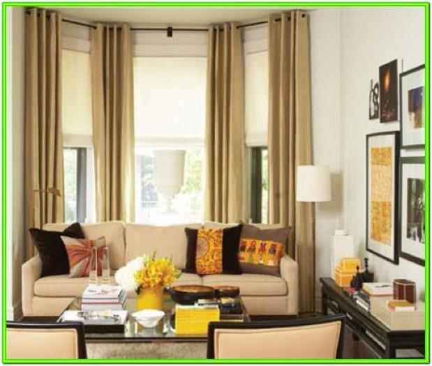Living Room Modern Bay Window Curtains