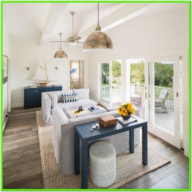 Living Room Modern Beach House Decor