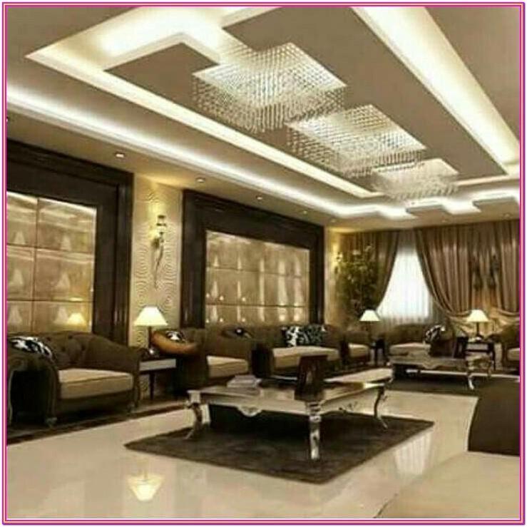 Living Room Modern Ceiling Design 2019