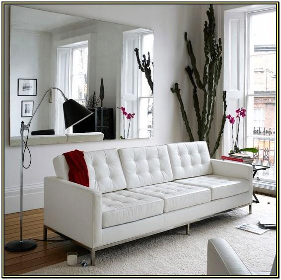 Living Room Modern Living Room White Leather Sofa