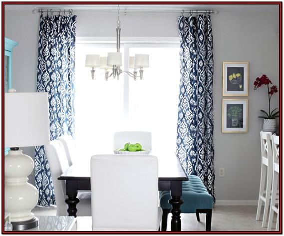 Living Room Navy And Silver Curtains