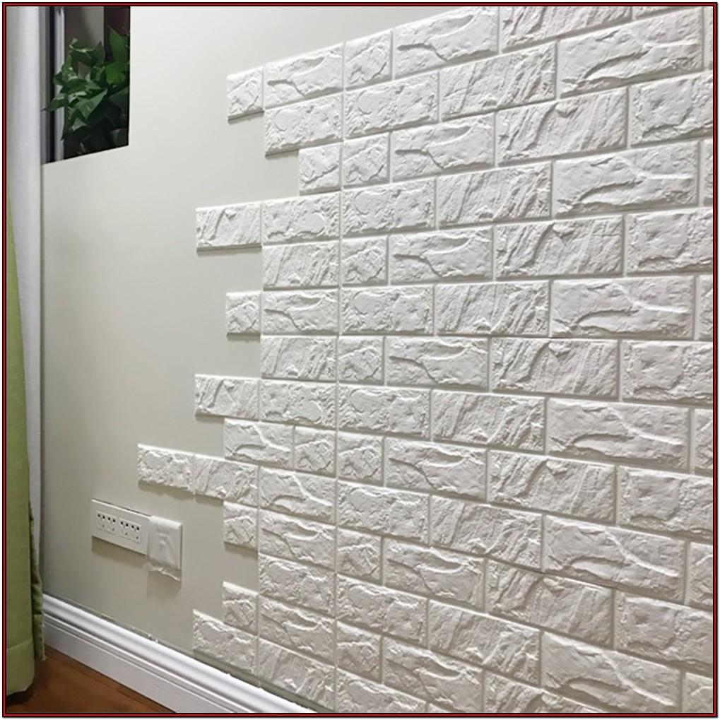 Living Room Peel And Stick Brick Wallpaper