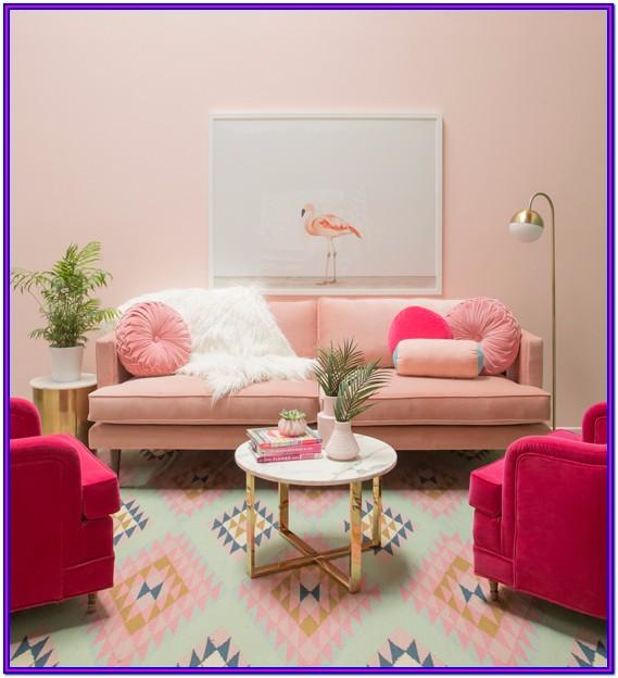 Living Room Pink Interior House Paint