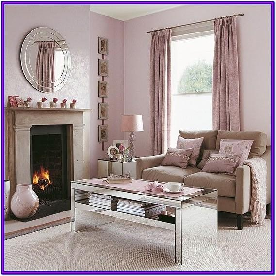Living Room Pink Wall Paint Designs