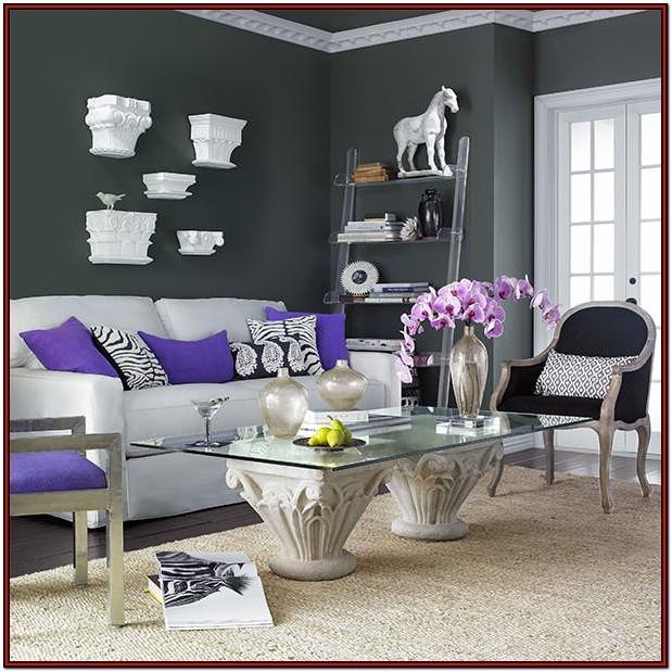 Living Room Purple Colour Schemes