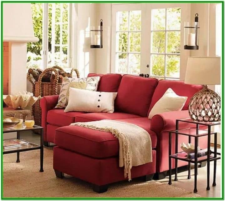Living Room Red Sectional Couch