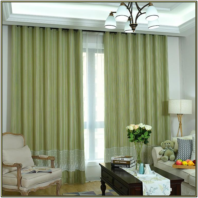 Living Room Sage Green Curtains