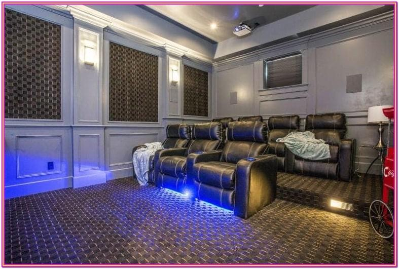 Living Room Simple Home Theater Ideas