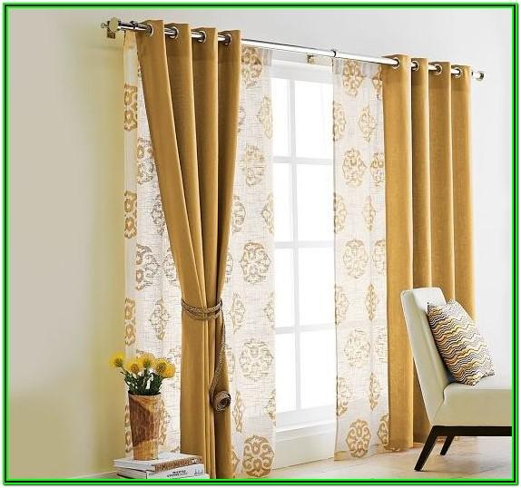 Living Room Sliding Glass Door Curtain Ideas