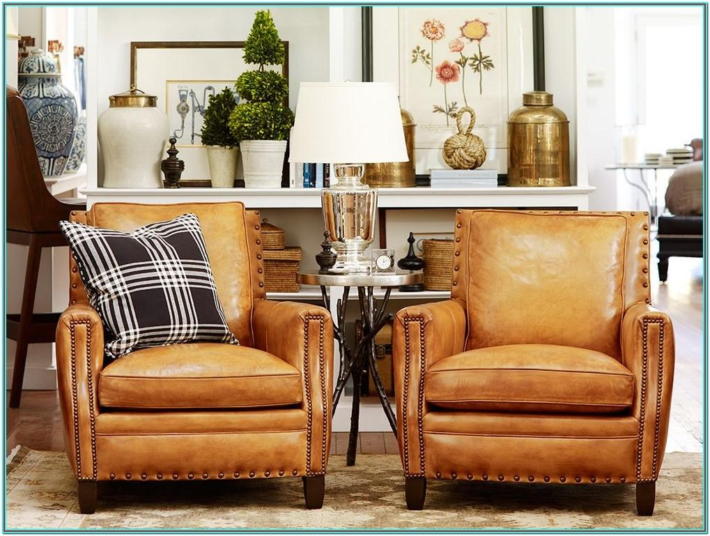 Living Room Tan Leather Chair