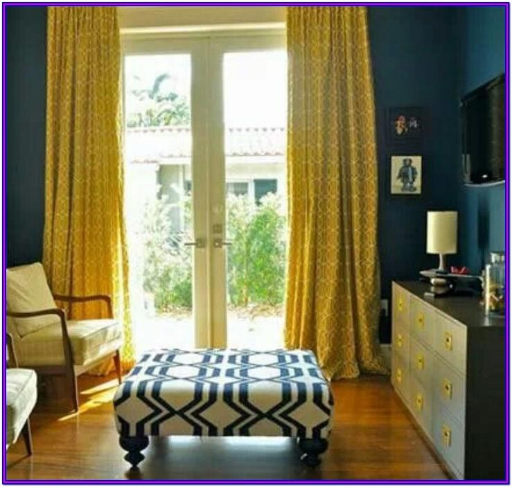 Living Room Teal And Yellow Curtains
