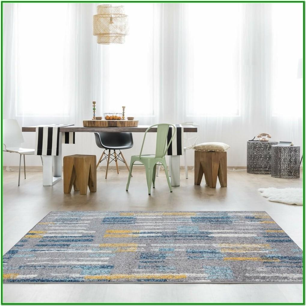 Living Room Teal And Yellow Rug
