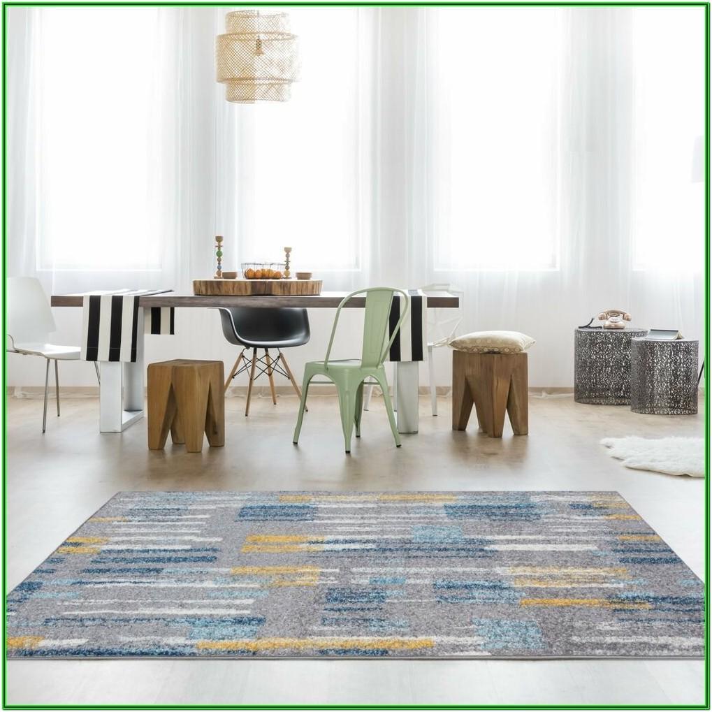 Living Room Teal And Yellow Rug