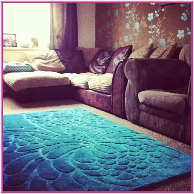 Living Room Teal Area Rugs