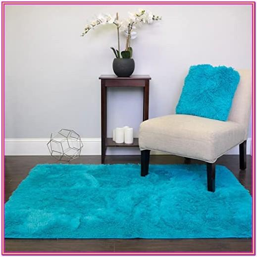 Living Room Turquoise Area Rug