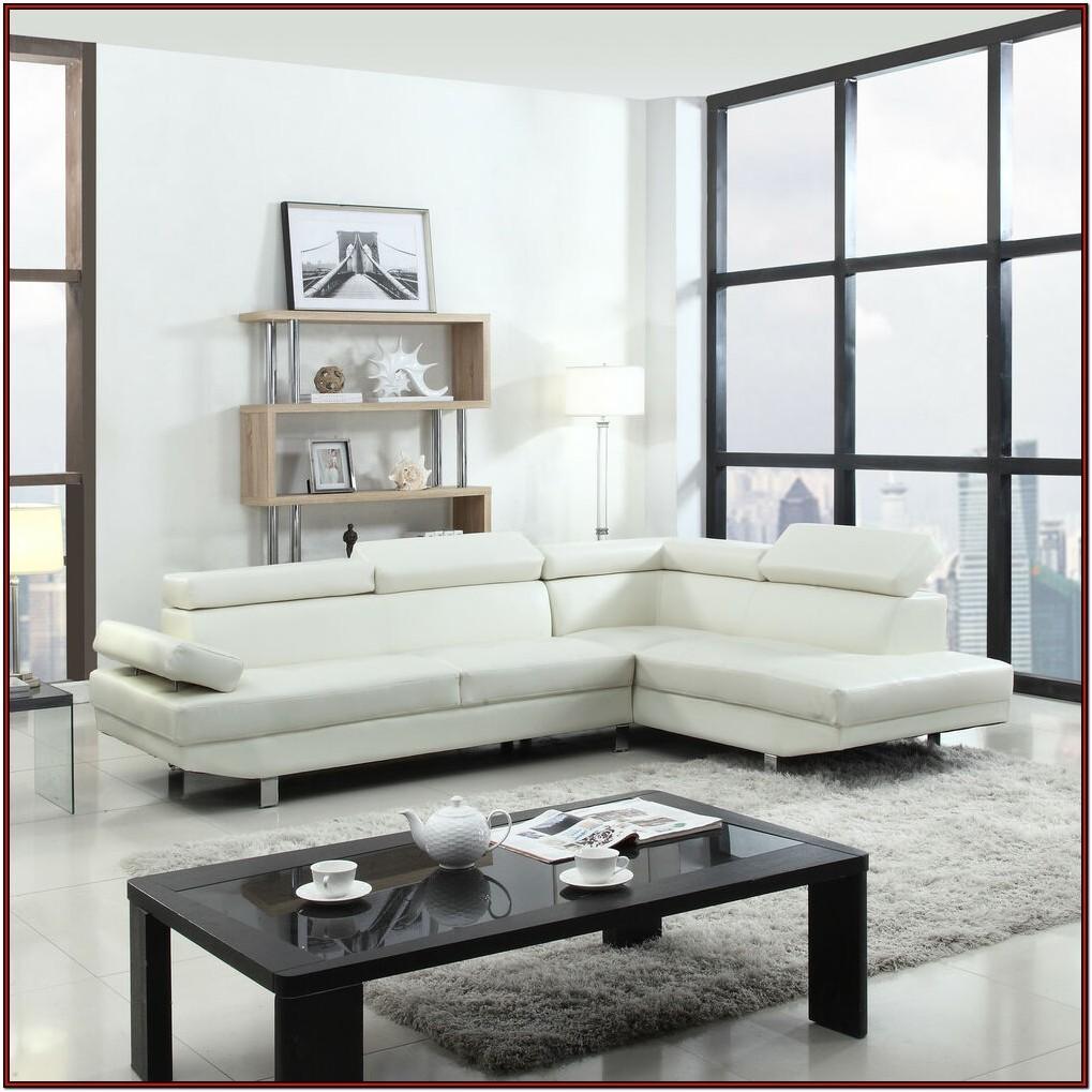 Living Room White Leather Sofa Set
