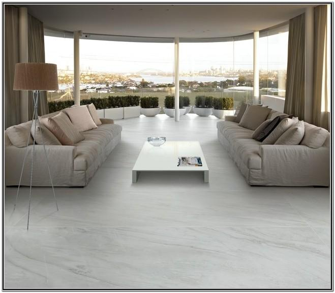 Living Room White Marble Tile