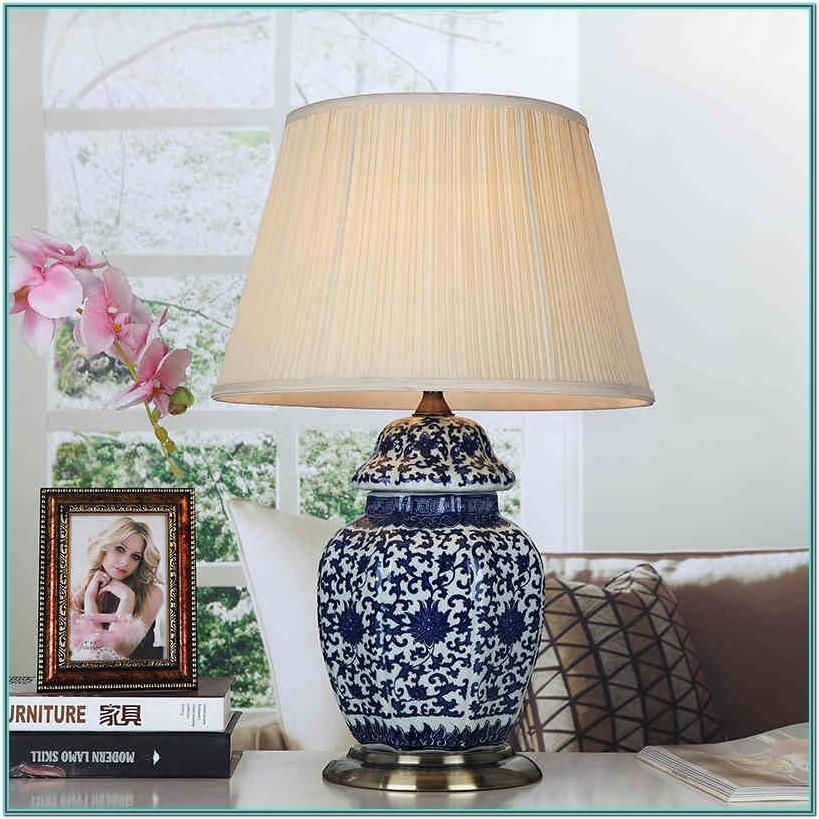 Living Room White Table Lamps