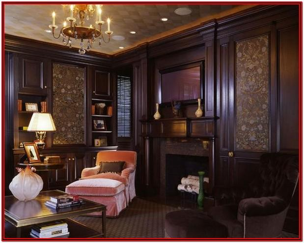 Living Room Wood Panel Walls Decorating Ideas