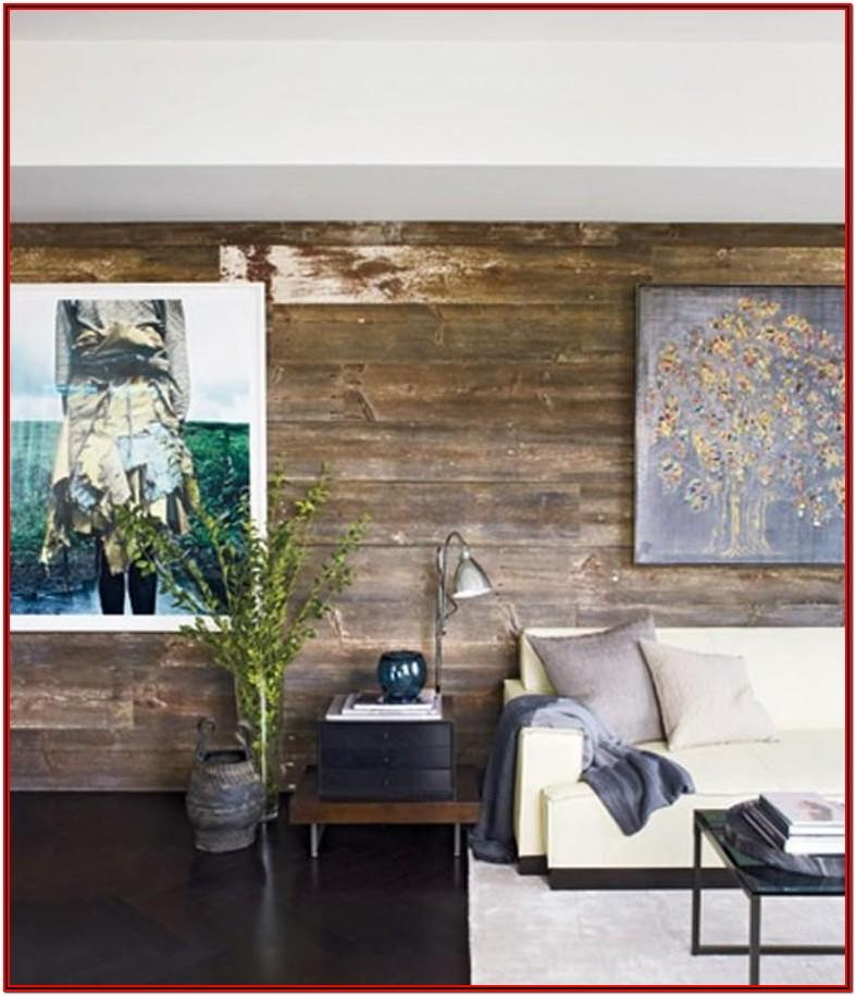 Living Room Wooden Wall Decoration Ideas