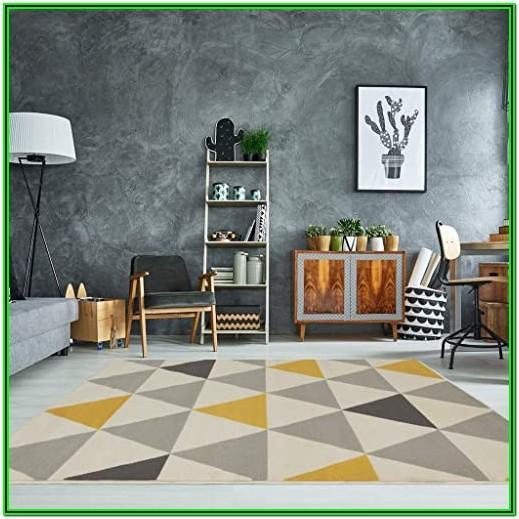 Living Room Yellow Area Rug