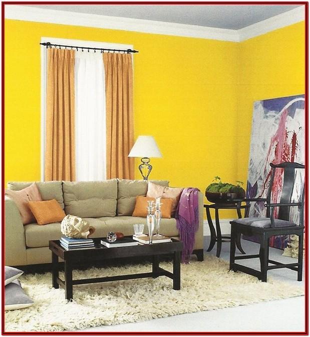 Living Room Yellow Wall Decor Ideas